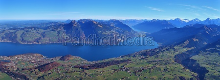 lake thunersee and mount niederhorn
