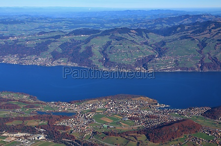 village spiez and lake thunersee