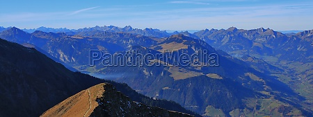 panoramic view from mount niesen