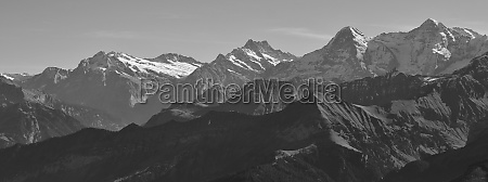 eiger and other high mountains in