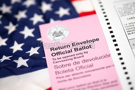 vote by mail ballot envelope laying