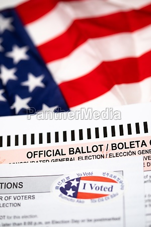 official ballot and voting instructions with