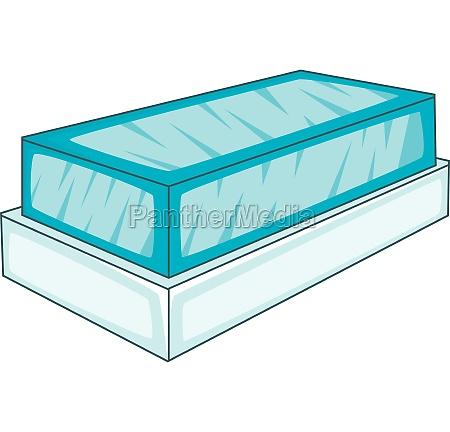 glass showcase icon cartoon style