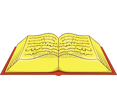 ancient book icon cartoon style