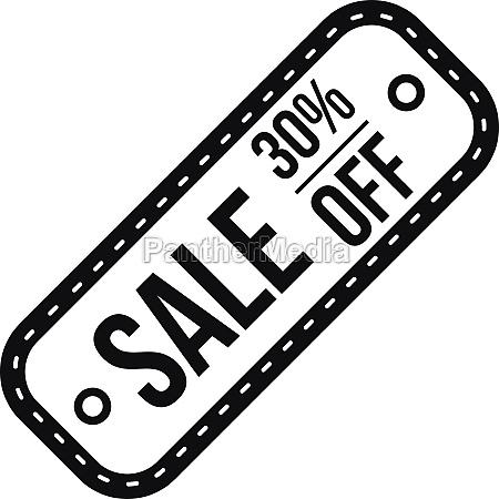 sale tag 30 percent off icon