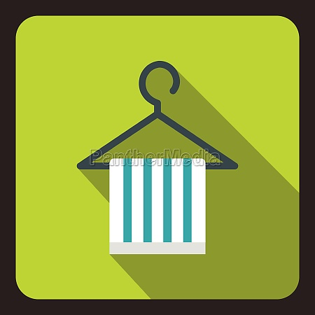 striped scarf on coat hanger icon