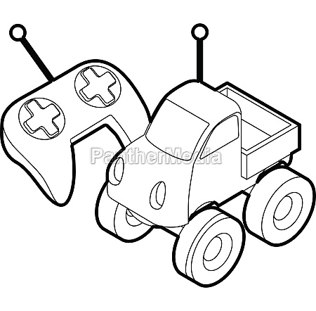 control remote car toy outline style