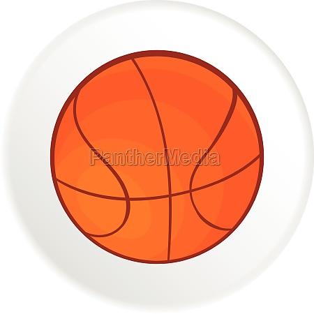 basketball icon cartoon style