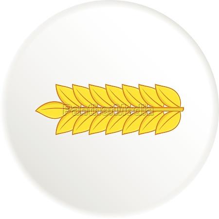 wheat icon cartoon style