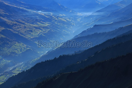 mountain ridges in the entschligental