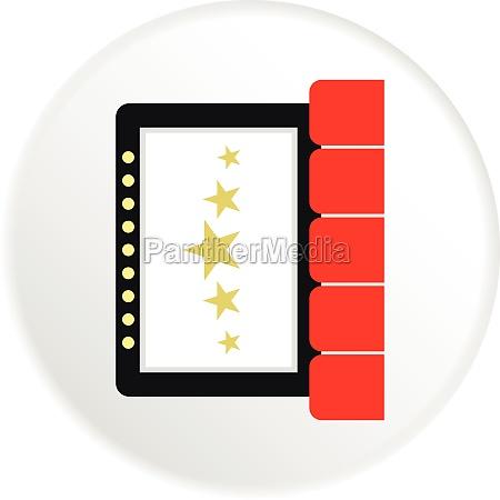 cinema interior icon flat style