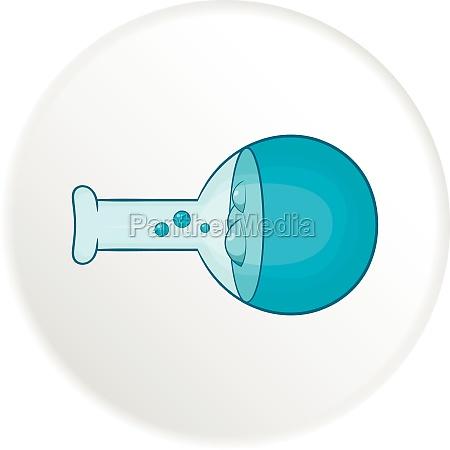 laboratory flask icon cartoon style