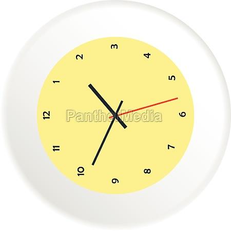 mechanical watch icon flat style