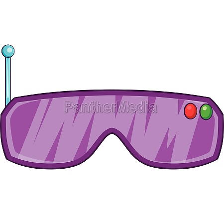 vr goggles icon cartoon style