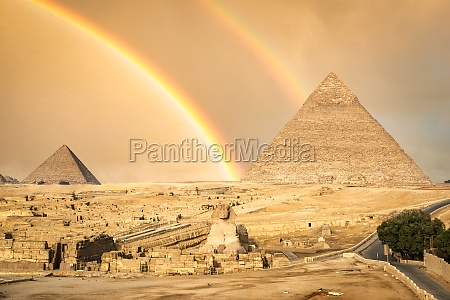 rainbow in giza