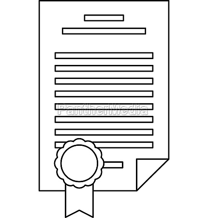 insurance document icon outline style