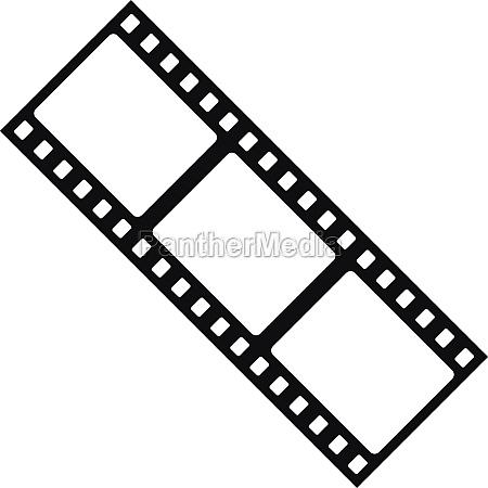 film strip icon simple style