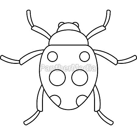 ladybug icon outline style