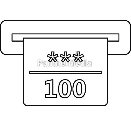 winning cheque in casino icon outline