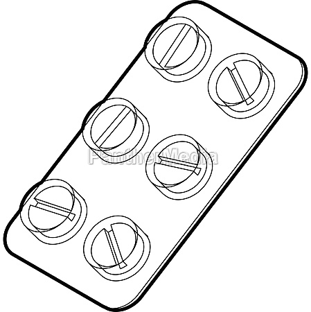 pills icon outline style