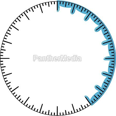 round progress bar icon cartoon style