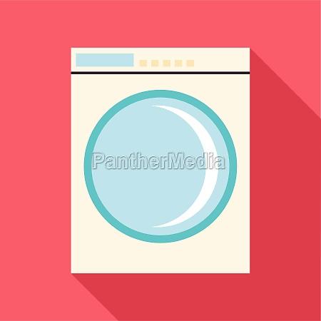 washing machine icon flat style