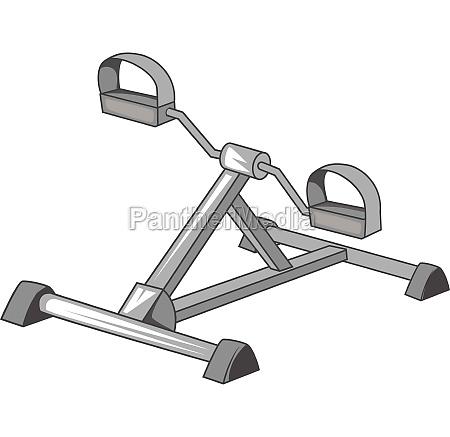 exercise bike icon gray monochrome style