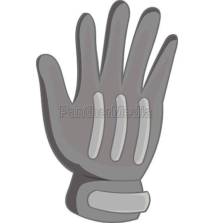 winter sport glove icon gray monochrome