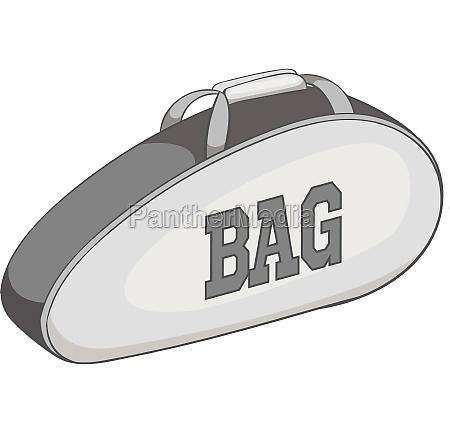 tennis bag icon gray monochrome style