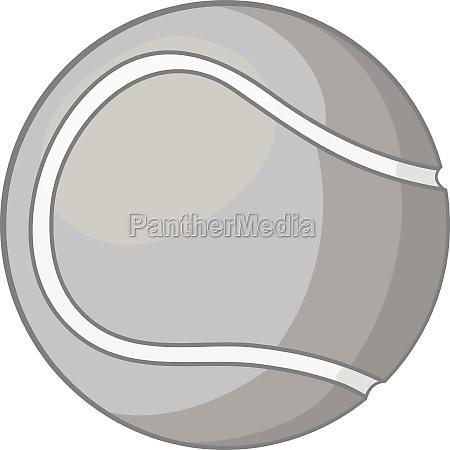 tennis ball icon gray monochrome style