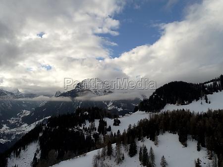 winter alps mountain range