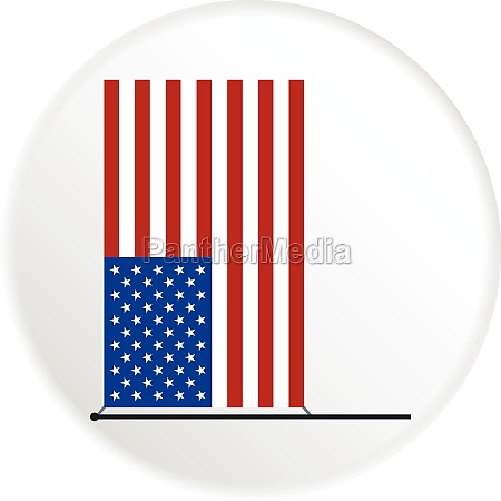 american flag icon flat style