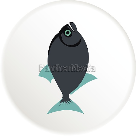 vampire fish icon flat style
