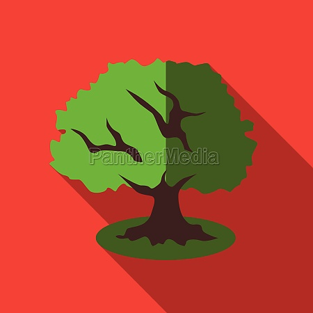 tree icon flat style