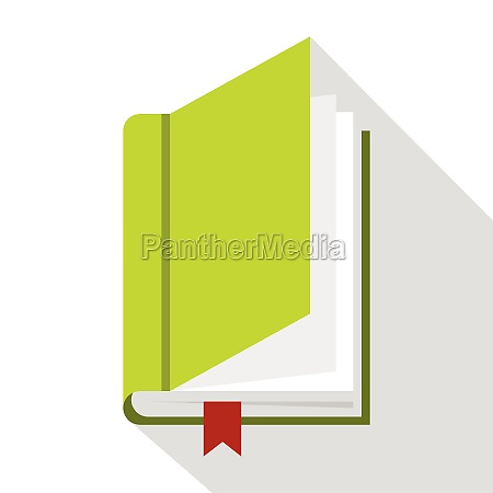 book with bookmark icon flat style