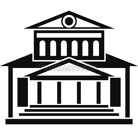 theater building icon simple style