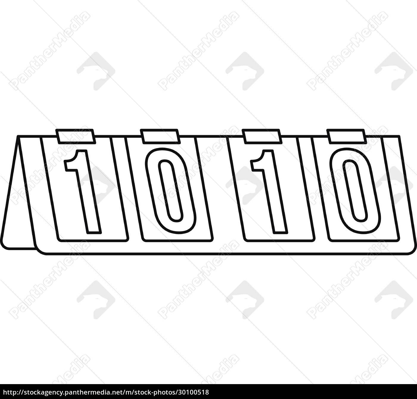 tennis, scoreboard, icon, , outline, style - 30100518