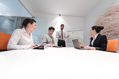 business people group brainstorming and taking