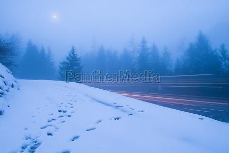 night scene of mountain landscape