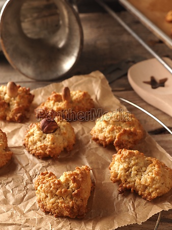 oatmeal cookies on baking paper with