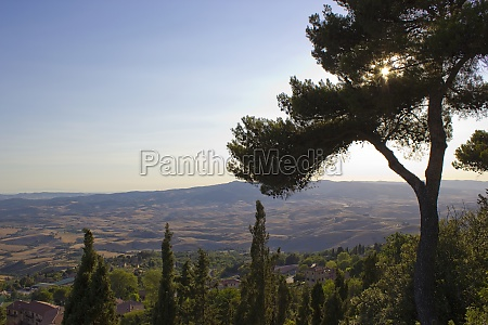 view of typical tuscany landscape in