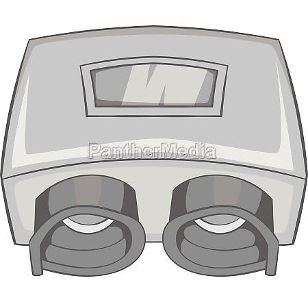 eye checking machine icon gray monochrome