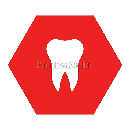 tooth and hexagon