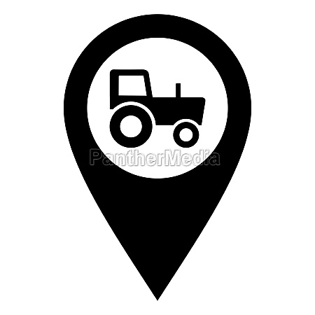 tractor and location pin