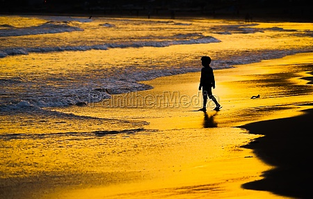 children playing in the twilight of