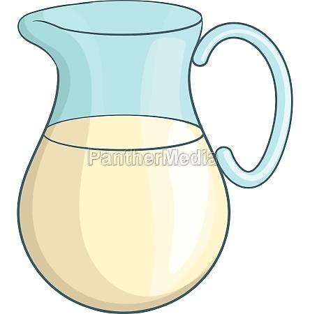 swiss milk icon cartoon style