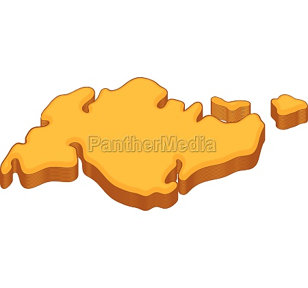 continent icon cartoon style