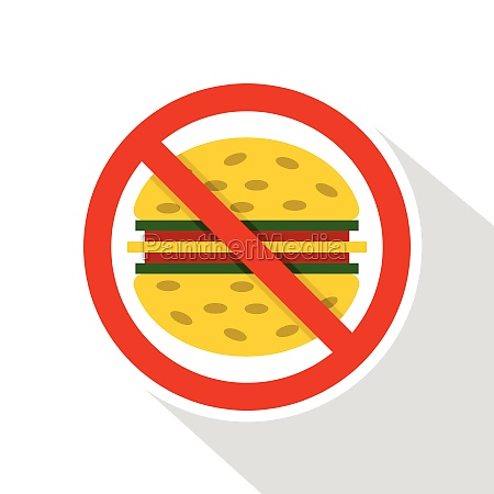 no fast food icon flat style