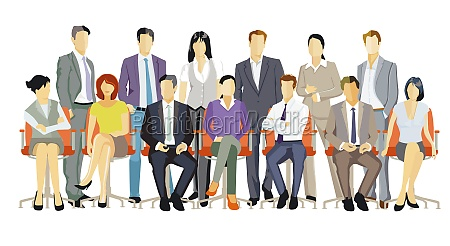a group of business people together