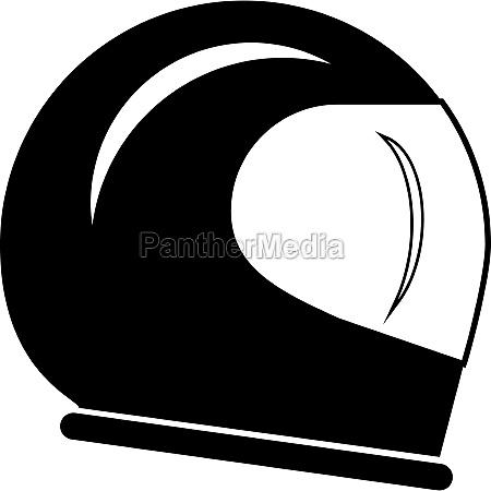 racing helmet icon simple style